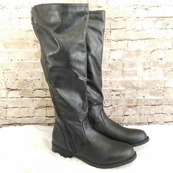 906f1e513d3 NEW Bamboo Pilot-19 Diagonal Zipper Boots